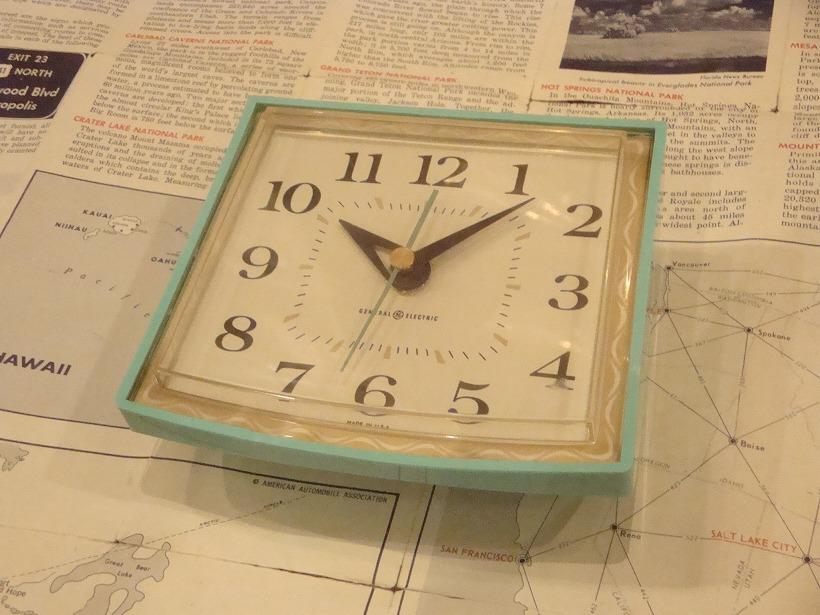 ヴィンテージ ゼネラルエレクトリック社製 GE 壁掛け時計 アンティーク ウォールクロック 1960's-70's vintage GENERAL ELECTRIC