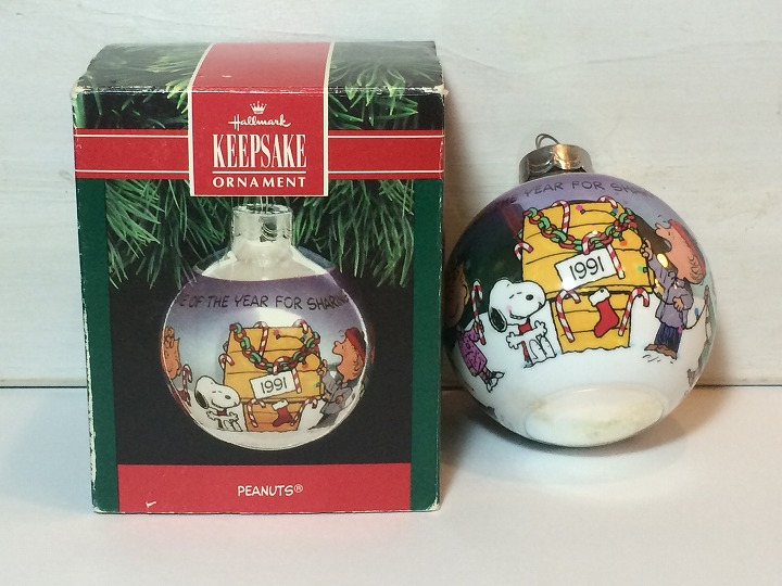 Usa Hallmark Snoopy 1991 Ball