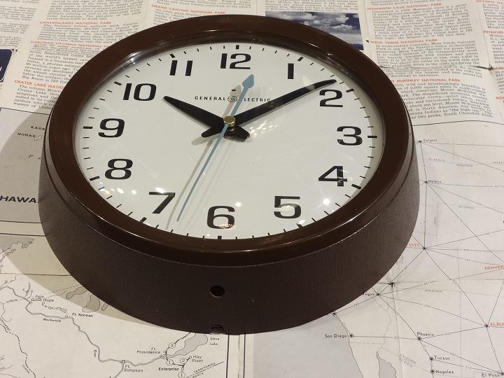 GENERAL ELECTRIC ゼネラルエレクトリック ビンテージ スクールクロック ウォールクロック MADE IN USA 壁掛け時計                                    [vc-340]