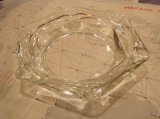 ヴィンテージ ガラスアシュトレイ 灰皿 クリア 八角形 (vintage ashtray)