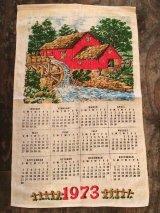 2018年のカレンダーに使えます!!  1973年 ヴィンテージ キッチンリネン ティータオルカレンダー vintage USA ヨーロッパ