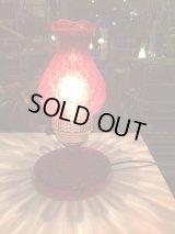 アンティーク ヴィンテージ ガラスシェード レッド ピンク テーブルランプ ビンテージ USA