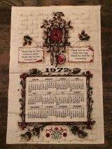 1972年 ヴィンテージ キッチンリネン ティータオルカレンダー vintage USA ヨーロッパ
