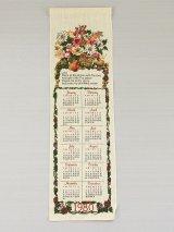 1980年 ビンテージ キッチンリネン ティータオルカレンダー タペストリー vintage USA ヨーロッパ