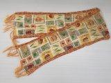 レトロ オレンジカラー スカーフ 長方形 USA vintage ヴィンテージ