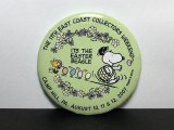 SNOOPY EAST COAST COLLECTORS WEEKEND スヌーピー ファンクラブ 缶バッジ 缶バッチ USA vintage
