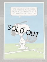 1970's スヌーピー Hallmark ヴィンテージ ポスター テニス MADE IN USA SNOOPY poster PEANUTS