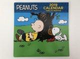 2019年 PEANUTS SNOOPY カレンダー USA アメリカ 並行輸入品 スヌーピー チャーリーブラウン