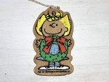 PEANUTS スヌーピー サリー 1970s ヴィンテージ 木製 WOOD クリスマス オーナメント Christmas SNOOPY PEANUTS USA 1970s