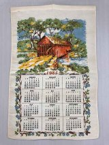 2019年のカレンダーに使えます!!  1985年 ヴィンテージ キッチンリネン ティータオルカレンダー vintage USA ヨーロッパ