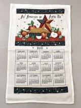 2011年 キッチン ティータオル カレンダー vintage USA ヨーロッパ オールド ヴィンテージ