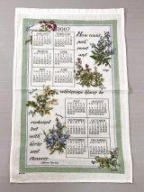 2007年 キッチン ティータオル カレンダー vintage USA ヨーロッパ オールド ヴィンテージ