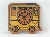ヴィンテージ バスデザイン WOOD 木製 ウォールクロック 壁掛け時計 USA vintage