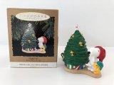 スヌーピー ウッドストック HALLMARK LIGHT オーナメント 箱入り クリスマスツリー KEEPSAKE PEANUTS SNOOPY ヴィンテージ