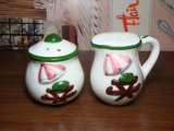 ビンテージ ソルト&ペッパー セット 陶器製 アンティーク 調味料入れ(vintage antique S&P set)