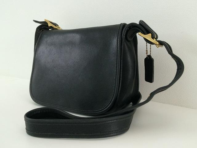 20ee4904bf2b オールドコーチ OLD COACH ショルダーバッグ ブラック 黒 メッセンジャーバッグ ヴィンテージ USA vintage [ba-201]