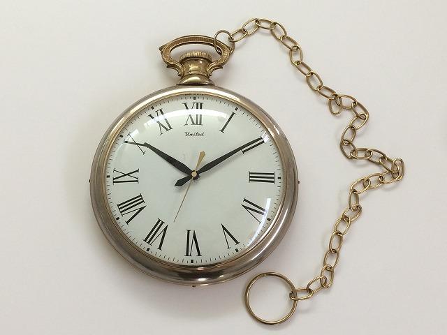 best loved 42d11 52b1d 1950's 1960's UNITED社製 ユナイテッド ポケットウォッチ型 懐中時計型 ヴィンテージ アンティーク ウォールクロック  ミッドセンチュリー 壁掛け時計 vintage
